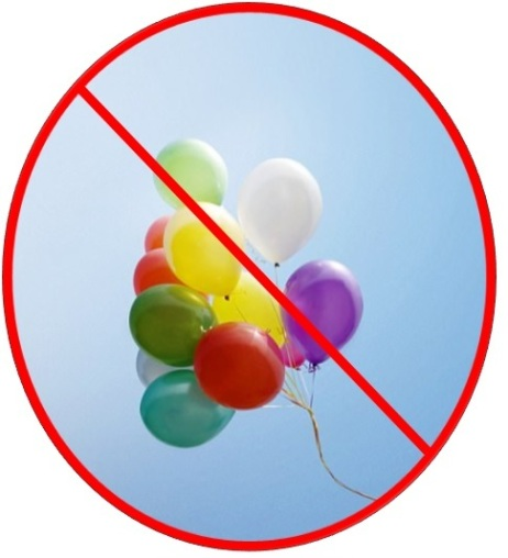 no to balloon releases